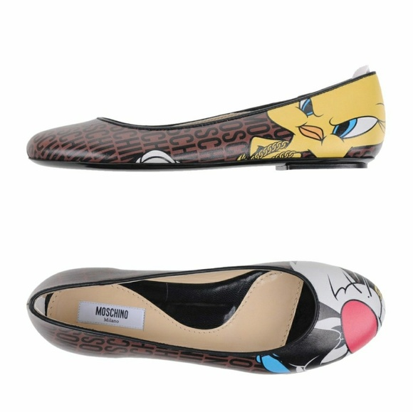 the latest 0ac4c 2007c RARE Moschino Couture Ballet Flats Size 8 Boutique